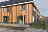 picture of duplex  - newly build row of modern townhouses in enschede netherlands - JPG