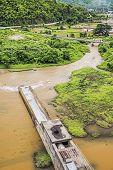 image of hydro-electric  - Mae Suai hydro power dam in Chiang Rai Thailand - JPG
