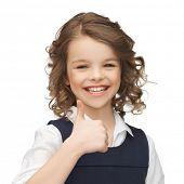 foto of pre-teen girl  - happy children and gestures concept  - JPG