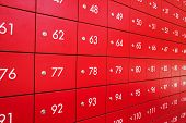 stock photo of old post office  - Red post box at Post office in Thailand - JPG