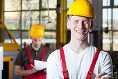 image of blue-collar-worker  - Smiling blue - JPG