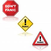 foto of panic  - Collection of traffic signs with the word  - JPG