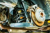 picture of suspension  - Car Suspension and Brakes Maintenance in Auto Service - JPG