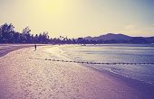 picture of langkawi  - Retro vintage filtered picture of a beach at sunrise - JPG
