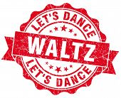 stock photo of waltzing  - waltz red grunge seal isolated on white - JPG