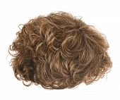 pic of wig  - Curly hair wig isolated over the white background - JPG