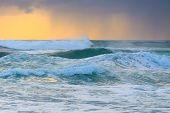 stock photo of rough-water  - Rough water of Pacific Ocean  - JPG
