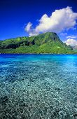 stock photo of french polynesia  - Moorea is a beautiful island covered in lush rainforests in French Polynesia - JPG