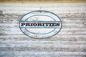 picture of priorities  - Priorities Concept  - JPG