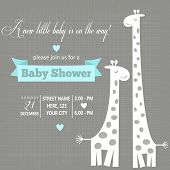 pic of pretty-boy  - baby boy shower card  - JPG
