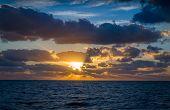 image of atlantic ocean  - Sunrise at Atlantic ocean - JPG