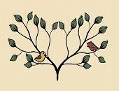 stock photo of garden eden  - unusual bird in the Garden of Eden - JPG
