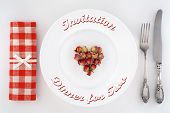 picture of dinner invitation  - Invitation to dinner for two - JPG