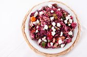 picture of quinoa  - beet salad with quinoa and chicken - JPG