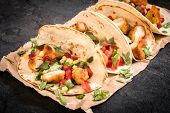 picture of sandwich wrap  - Chicken wrap sandwich with vegetables - JPG