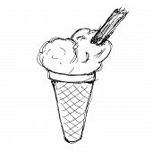 picture of lolli  - Hand drawn illustration of an ice lolly - JPG