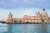 stock photo of salute  - view of Basilica Santa Maria della Salute Dogana - JPG
