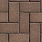 stock photo of slab  - Brown Paving of Sidewalk Slabs Rectangles - JPG