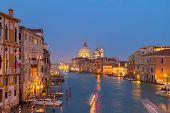 pic of salute  - Grand canal  and Basilica Santa Maria della Salute at night - JPG