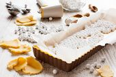 picture of food preparation tools equipment  - Baking background - JPG