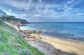 image of shoreline  - Castelsardo shoreline in hdr tone mapping effect - JPG