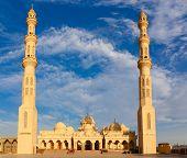 stock photo of stratus  - Exterior of El Mina Masjid Mosque in Hurghada Egypt - JPG