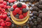 pic of blackberries  - different berries  - JPG