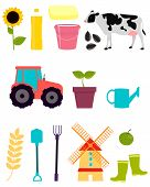 picture of tractor  - Set agriculture - JPG