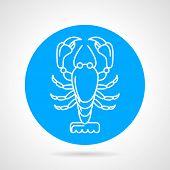 pic of craw  - White line design lobster - JPG