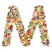 picture of letter m  - Letter M Uppercase Font Shape Alphabet Collage - JPG
