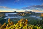 picture of bromo  - Mount Bromo volcano during sunrise the magnificent view of Mt - JPG
