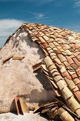 picture of shingles  - Shingles used as a protection for salt heaps in the saltwors of Trapani - JPG
