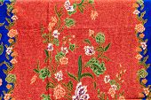 stock photo of batik  - popular batik sarong pattern background in Thailand traditional batik sarong in Asian - JPG