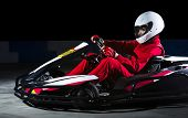 picture of armored car  - Young girl karting racer isolated - JPG