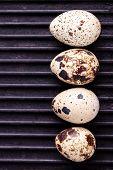 image of quail  - raw quail eggs quail eggs on a table - JPG