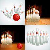 Постер, плакат: Bowling balls vector set