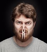stock photo of fart  - Bad smell concept  - JPG
