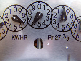 stock photo of electricity meter  - Electricity Gage  - JPG