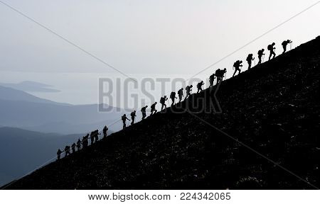 Climbing Hiking And Sporting Activities