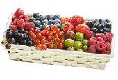 stock photo of healthy food  - ripe berries in the box - JPG