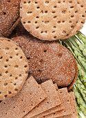 stock photo of wasa bread  - crispbread and wheat - JPG