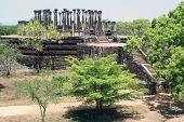 picture of vihara  - Stone Vatadage Mandalagiri Vihara near Medirigiriya Sri Lanka  - JPG