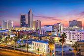 Corpus Christi, Texas, USA Skyline at dusk. poster
