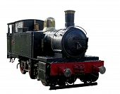 pic of chug  - A miniature steam train isolated with clipping path - JPG