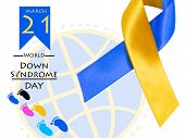 World Syndrome Day With Blue Yellow Awareness. poster