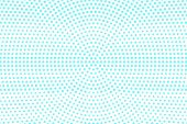 Blue On White Dotted Halftone. Halftone Vector Background. Rough Horizontal Dotted Pattern. Retro Fu poster