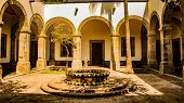 Courtyard Of The Cultural Institute Cabanas A Place Of Culture In Guadalajara Jalisco Mexico In A Wo poster
