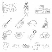 Isolated Object Of Traditions And National Sign. Set Of Traditions And Sightseeing Vector Icon For S poster