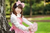 japanese woman in sweet lolita cosplay