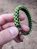 Bracelet Of Survival. Cord Bracelet Handmade Rope. Parachute Cord Knot For Male Arm. poster